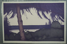 """Original signed Art Hansen lithograph """"Evening"""" - from large private collection"""