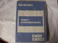 Suzuki Owner's Manual RM80 RM80S RM 80 S Printed Sept. 1986 # 99011-02B21-03A