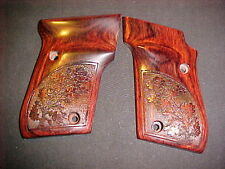 Taurus PT22 PT25 Rosewood Fine Pistol Grips Fancy Oak Leaf Stipple Beautiful!