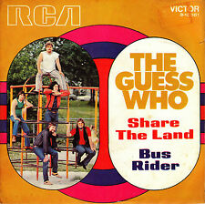 "7"" The Guess Who Share the Land 45 Spanish 1970 BUS RIDER"