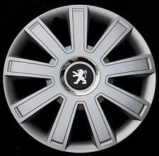 """Brand new silver 16"""" wheel trims hubcaps to fit Peugeot Partner,Expert,407,308"""