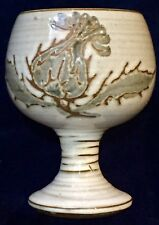 Briglin Studio Pottery Goblet, Handpainted Thistle, London