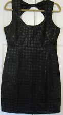 Women's Size L Dress Lucy & Co. Solid Black Houndstooth Pattern