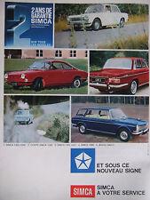 6 PAGES PUBLICITÉ DE PRESSE 1966 SIMCA 1301/1501 LIGNE EUROPÉENNE - ADVERTISING