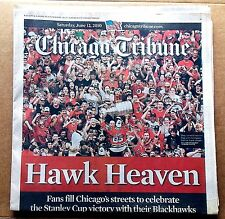 2010 Chicago BLACKHAWKS Hockey - STANLEY CUP PARADE -- 6/12/10 Tribune NEWSPAPER