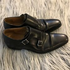 """MAGNANNI """"MIRO"""" BLACK DOUBLE MONK STRAP SIZE 11M 13274 LEATHER MENS DRESS LOAFER"""