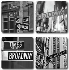 New York Signs - Set of 4 Coasters - High quality - Ideal gift