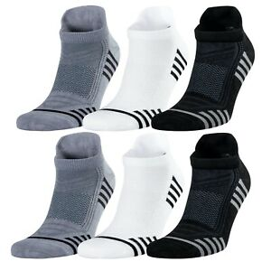 Bamboo Ankle Men's All Seasons Socks 6 Pairs 9-12 Size