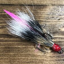Village Tackle Squirrel Pink Feather Dressed Game Fishing Treble Hooks Size 2