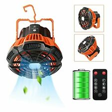 Portable LED Camping Fan with LED Lantern, Rechargeable 5200mAh Battery .....