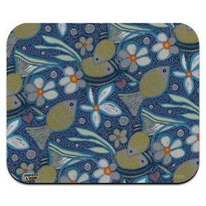 Little Happy Pond Gold Fishes Pattern Low Profile Thin Mouse Pad Mousepad