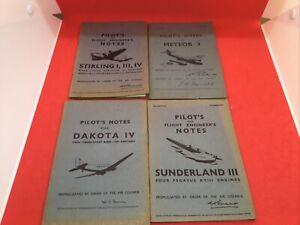 4 Pilots Notes Books