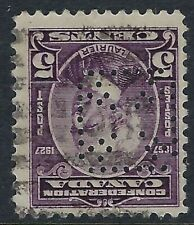 Perfin #1-Maltese Cross Gutta Percha & Rubber: Scott 144, 5c Laurier, Pos. 3