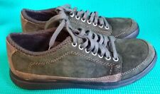 EASTLAND 1955 NEW SNEAKER in DISGUISE DARK OLIVE GREEN LACE UP BOAT CASUAL Wms 6