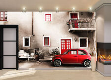 Old Italy, Small Car Wall Mural Photo Wallpaper  DECOR Paper Poster  Free Paste