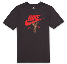 Nike Sportswear Air Photo Men's T-Shirt L Gray Red Gym Casual Training New