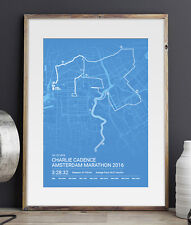 Amsterdam Personalised Marathon Print / Poster - A unique gift!