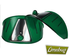 Limebug Green Headlight Shield Eye Brow Visor x2 VW Bus Van Beetle Head Light
