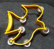 Instrument-Tambourine-Dove Shape Yellow