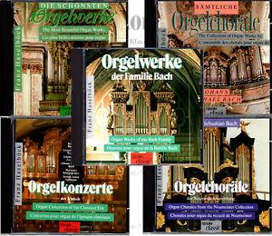 FRANZ HASELBÖCK: ORGELWERKE, -KONZERTE, -CHORÄLE, – 5 CDs / BACH, HAYDN, BRAHMS,
