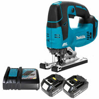 Makita DJV182Z 18V LXT Brushless Jigsaw With 2 x BL1840 4Ah Batteries & Charger