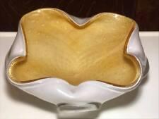 Fratelli Toso Gold Spiral Murano Art Glass Ashtray