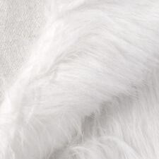 White shaggy faux fur long hair pile upholstery custom fabric 50cmx155cm