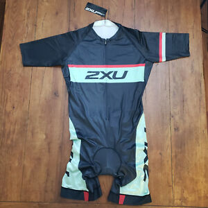 2XU Mens 3XL Cycling Skinsuit Speedsuit Racesuit XXXL SS Shorts MX2660D