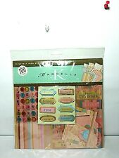 Mix Of Scrapbook Stickers Bo Bunny ,wedding Dress,camera,letters