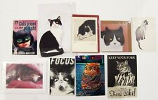 9 Cat Themed Cards and Postcards - New and/or Unopened