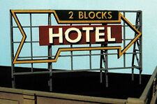 Blair Line HO S Or O Scale Hotel Billboard Laser Cut Wood  Kit 2517