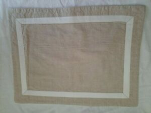 Beautiful Crate and Barrel Set 4 Dover Placemats 14X18 Natural  Linen & Cotton