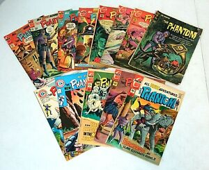 13 lot The PHANTOM Silver/Bronze Comics, Gold Key 14, Charlton 35 39 48-55 61 62