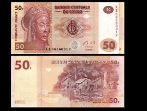 CONGO 50 FRANCS 2013 YEAR P 97 UNC