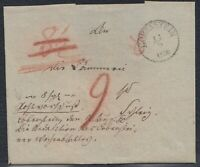 ERF 34450) LOBENSTEIN Thüringen 1850 Postvorschuß-Briefhülle nach Schleiz
