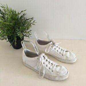 Sportsgirl White Sneakers Size 38 Womens Comfort Vegan Casual Shoes