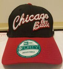 NEW ERA CHICAGO BULLS BASKETBALL HAT MENS CAP SNAPBACK ADJUSTABLE BLACK RED OSFA