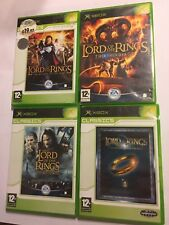 4 PAL XBOX LOTR GAMES LORD OF THE RINGS THE THIRD AGE 2 TOWERS FELLOWSHIP RETURN