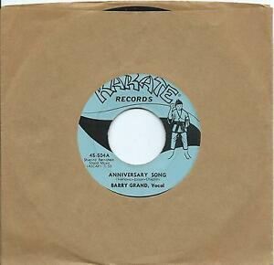 Barry Grand: Anniversary Song/Looking back:US Karate:Northern Soul