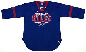 Buffalo Bills NFL Starter Women's Half-Mesh Drawstring Shirt