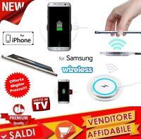 Caricatore Qi Wireless BASE Caricabatterie Piastra per iPhone Samsung SMARTPHONE