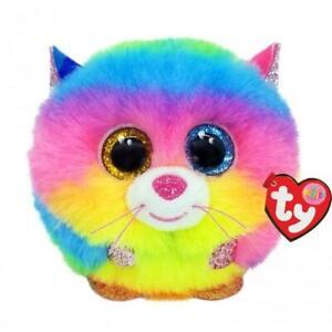 Gizmo - Rainbow Cat - Puffies - TY Beanie Boo