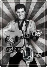 Elvis metal postcard photo