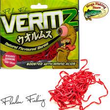 FLADEN VERMZ 320 Stk. Künstliche Blutwürmer mit Aroma / Flavour Plattfisch Köder