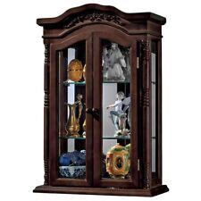 "27""  Replica Brown Display Case Beacon Hardwood Wall Curio Cabinet Shelf"