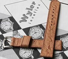 Wyler vintage watch band 17.5mm stitched 1940s/50s rare early NOS Wyler band