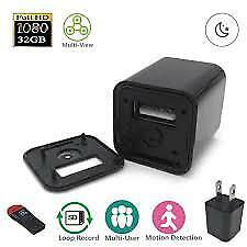 1080P Spy Camera USB Wall Charger Mini US Plug AC Adapter Hidden Camcorder Cam