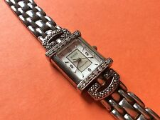 925 Sterling silver ECCLISSI 1/3 ct diamond women's wrist watch QVC 32375 Japan