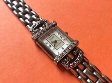 925 Sterling silver ECCLISSI 1/3 ct diamond wrist watch QVC 32375 Japan