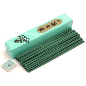 Japanese Nippon Kodo Morning Star GARDENIA Incense 50 Sticks with Incense Holder